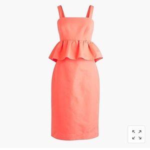 NWT J Crew Petite Peplum Dress In Classic Faille